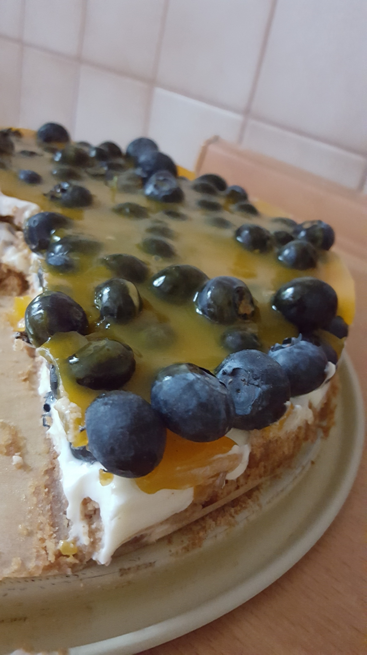 Blueberry cheesecake – easy as pie!